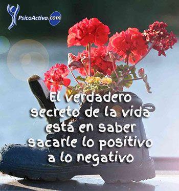 saber sacarle lo positivo a lo negativo