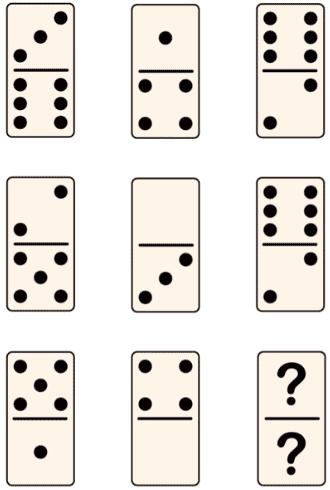 Las series de fichas de dominó en los test psicotécnicos