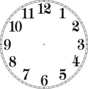 Dividir el reloj en tres partes